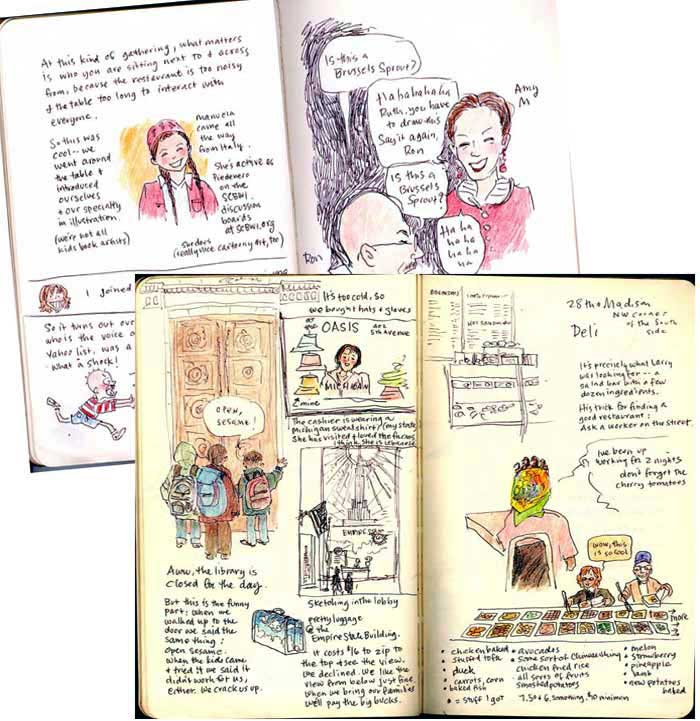 Ruth McNally Barshaw sketching journal