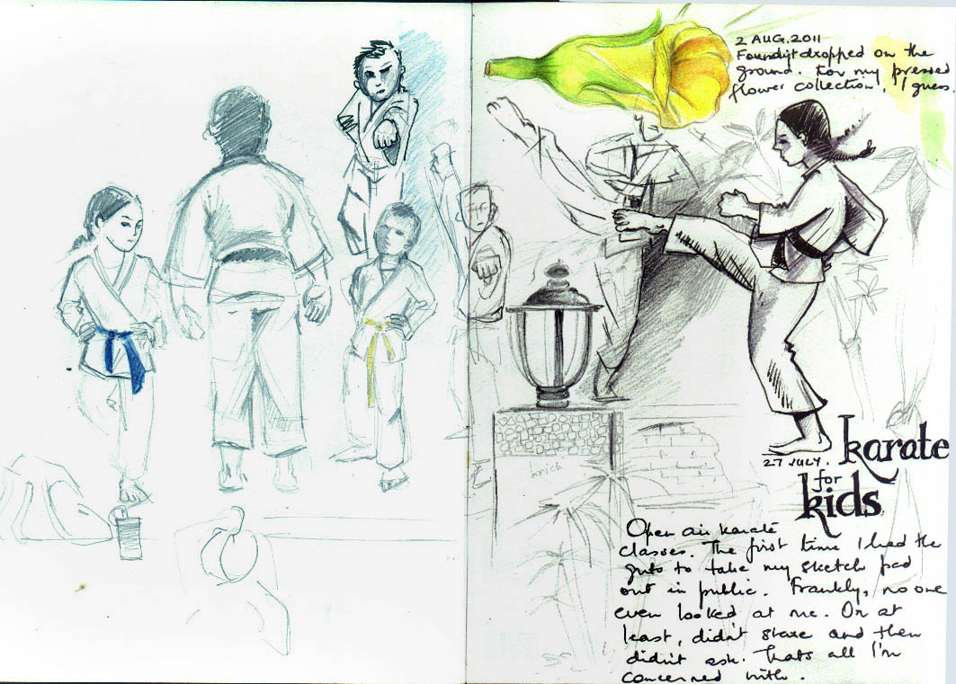 sketches karate