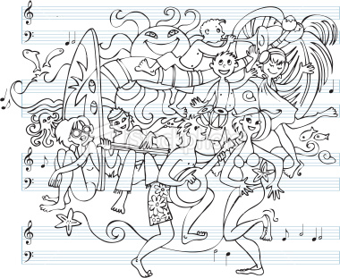 beach music doodle