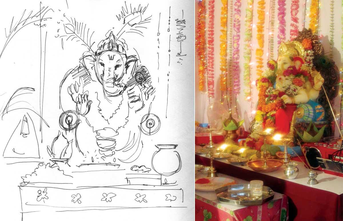 ganpati sketch
