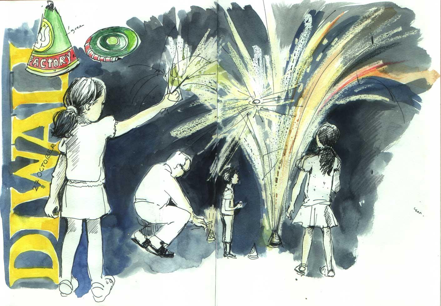 Diwali sketch