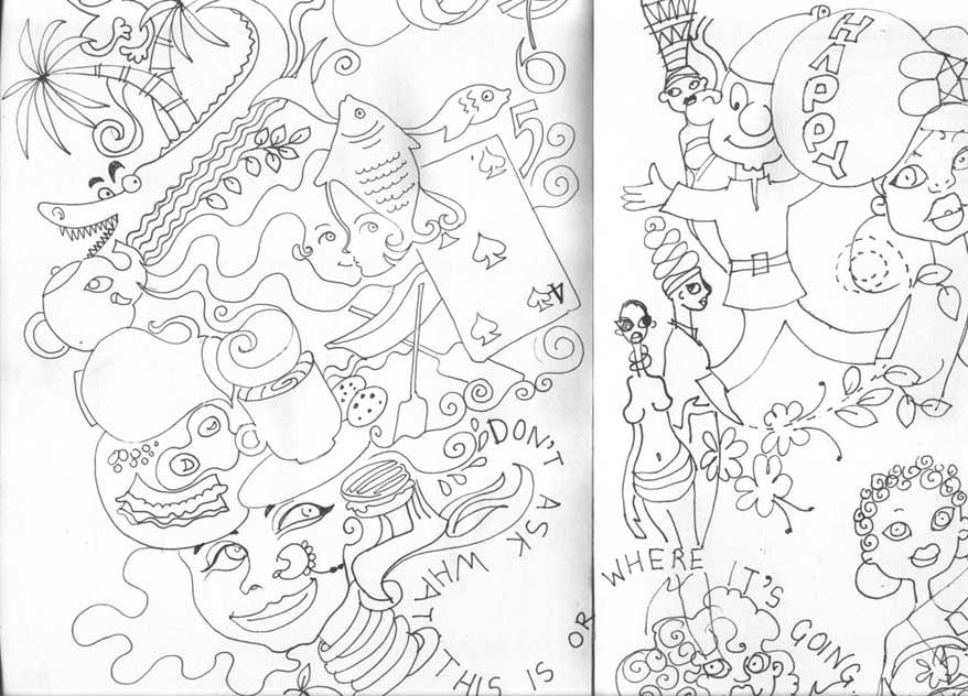 Niloufer doodling