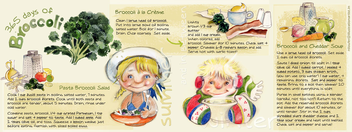 Recipe for Broccoli ©Niloufer Wadia